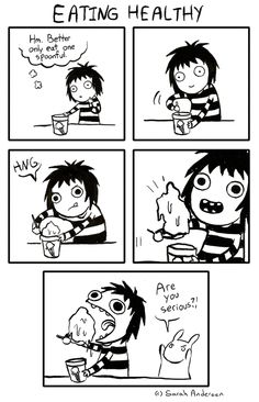 Image about funny in Sarah Andersen by Alien on We Heart It Funny Shit, Funny Posts, Funny Cute, The Funny, Hilarious, Sarah Anderson Comics, Sara Anderson, Memes Humor, Funny Memes