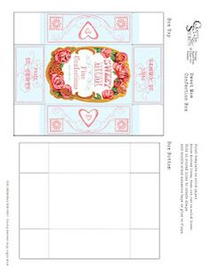Mother's Day Sweet Confections Box Template 2012