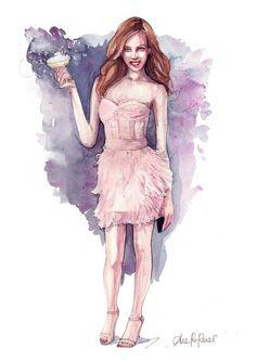 Custom fashion illustration - original painting by Pinodesk  #italiasmartteam #etsy