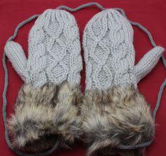 Lovely Winter Pure Manual Weaving Double-Deck Thicken Keep Warm Woolen Gloves