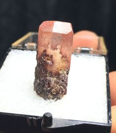 Gorgeous Terminated Topaz w/ Amazing Phantom from Mexico in Clear Thumbnail Box!