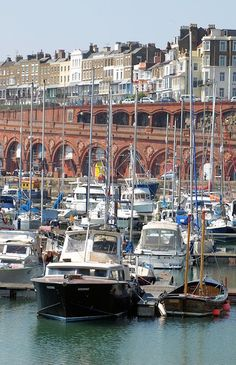 England Travel Inspiration - Ramsgate in Kent, England. Here in the harbour you can still see a few boats that took part in the evacuation of Dunkirk in WW2