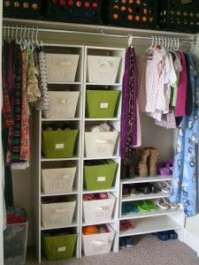 Closet makeover using movable pieces by Organize & Decorate Everything