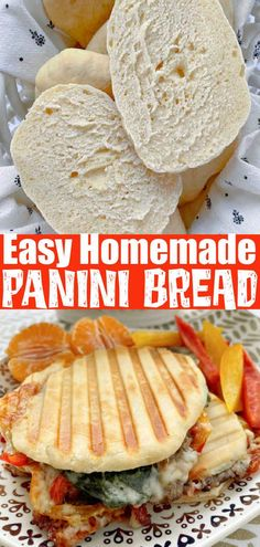 Fun Baking Recipes, Quick Dinner Recipes, Pastry Recipes, Cooking Recipes, Panini Bread, Panini Sandwiches, Pita Bread, Sourdough Bread, Panini Recipes