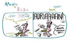 Adrián y Elba #4 (Más de Adrián y Elba en adrianyelba.com #webcomic #comic)