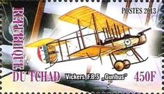 "Stamp: Vickers F.B.5 ""Gunbus"" (Cinderellas) (Chad) Col:TD 2013-19/4"