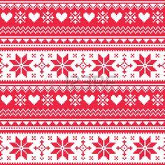 Sin fisuras de punto n�rdico modelo rojo del coraz�n de la Navidad photo