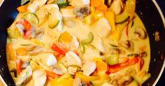Gemüsepfanne mit Kokos-Currysoße