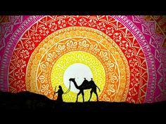 Camel in Desert | Sunset in Desert | Drawing | Mandala Art - YouTube Mandala Art Therapy, Mandala Art Lesson, Mandala Artwork, Mandala Drawing, Desert Drawing, Colorful Animal Paintings, Mandela Art, Krishna Krishna, Pen Doodles