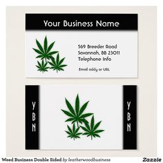 Weed Business Double Sided Business Card