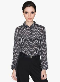 Buy Label Ritu Kumar Black Printed Shirt for Women Online India, Best Prices, Reviews | LA515WA30GVDINDFAS