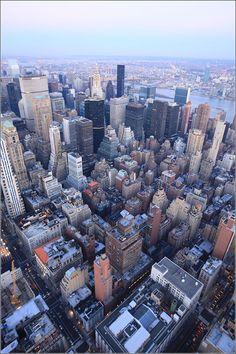 Streets of NYC - taken from Rockefeller Center - Sunset, Manhattan Skyline New York City
