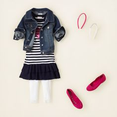 girl - outfits - sailor stripes - in the navy | Children's Clothing | Kids Clothes | The Children's Place
