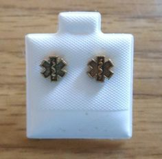 EMS Star of Life Seal Crest Post Earrings Jewelry Emergency EMT Paramedic RN | eBay