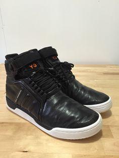f15e31ece9d1 Adidas Y-3 Yoji Yamamoto Hayworth Mid 2 Black Black White Size US 11