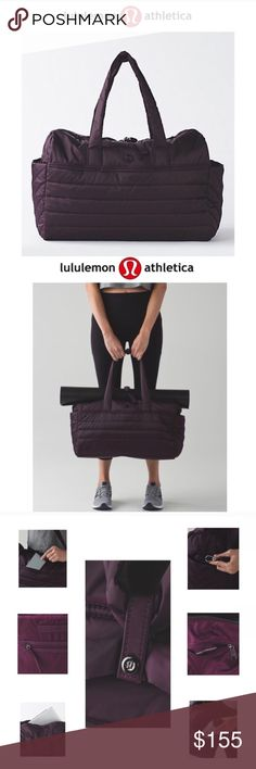 NWT lululemon bag Sold out bag great for gym/work and travel. This bag is water resistant and has many pockets. lululemon athletica Bags Travel Bags