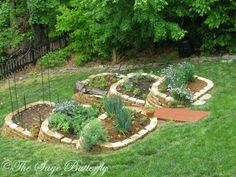 tiered raised beds on a slope