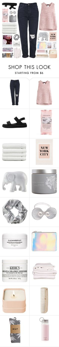 """pinko"" by etheras ❤ liked on Polyvore featuring Topshop, Josie Maran, Linum Home Textiles, Urban Outfitters, The Elephant Family, red flower, Monki, The Mode Collective, Polaroid and Kiehl's"