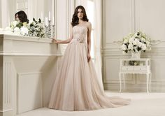 Moda sposa 2014 - Collezione NICOLE.  NIAB14092PKIV. Abito da sposa Nicole.