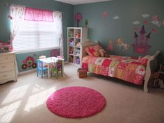 I NEED this castle, princess & horse for Gracie's room!