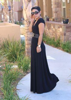 DIY Black Maxi Dress & Pattern Review - Mimi G Style