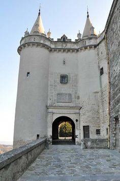 Castle entrance to the Chateau de Grignan. Provence