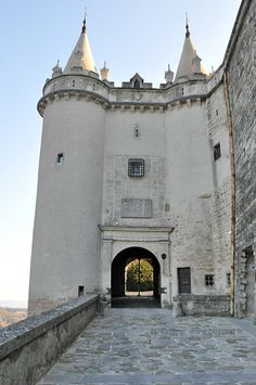 Castle entrance to the Chateau de Grignan. Provence