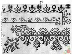 (2) Gallery.ru / Фото #184 - Вышивки-нравятся-4 - dilar57 Embroidery Patterns Free, Cross Stitch Embroidery, Hand Embroidery, Embroidery Designs, Cross Stitch Love, Cross Stitch Borders, Cross Stitch Patterns, Mittens Pattern, Filet Crochet