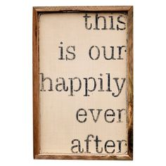 """""""Happily Ever After"""" Wall Decor"""