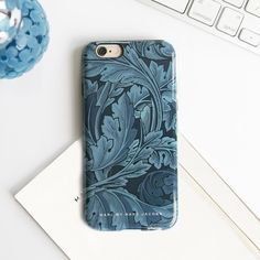 Marc by Marc Jacobs Acanthus iPhone 6 Case featuring an original William Morris print in dreamy Gettysburg Blue