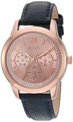 Relic Women's 'Kendall strap' Quartz Metal and Alloy Casual Watch, Color:Rose Gold-Toned (Model: ZR15830) >>> You can find out more details at the link of the image.