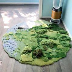 Grass Carpet, Plush Carpet, Cheap Rugs, Living Room Carpet, Round Rugs, Dream Decor, Dream Rooms, Room Paint, Creative Art