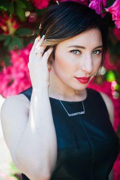 Nadia Albano, Make Up For Ever, MAC, custom Nadditude necklace from Jeweliette Jewellery, Daniella Guzzo Photography