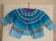 cardigan front by Mother Nutkin, Ravelry free pattern  love the colors on this cardigan
