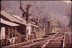 View of Miners' Homes in a Coal Company Town near Logan West Virginia. Next to the Railroad Tracks 04/1974 | Flickr - Photo Sharing!