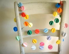 Pom Pom Paper Garland 3D Garland Party Decor Paper