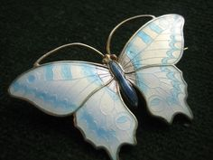 marius hammer butterfly brooch solid silver gilt enamel at fault in Jewellery & Watches, Vintage & Antique Jewellery, Vintage Fine Jewellery | eBay