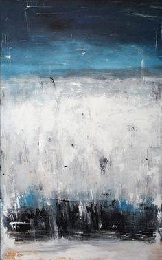 Contemporary Wall Art Large Modern Canvas Blue Abstract