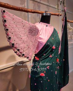 Hand Work Blouse Design, Simple Blouse Designs, Designer Blouse Patterns, Fancy Blouse Designs, Bridal Blouse Designs, Blouse Neck Designs, Saree Embroidery Design, Fancy Dress Design, Sleeves Designs For Dresses
