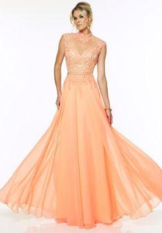 2015 Mori Lee Lace Bodice Prom Dress 97080