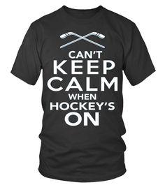 Can't keep calm when hockey's On (Round neck T-Shirt Unisex - Black) #videos #quotes #science hockey humor, ice hockey, hockey diy, dried orange slices, yule decorations, scandinavian christmas Hockey Drills, Hockey Puck, Hockey Mom, Ice Hockey, Field Hockey Quotes, Hockey Sayings, Yule Decorations, Cant Keep Calm