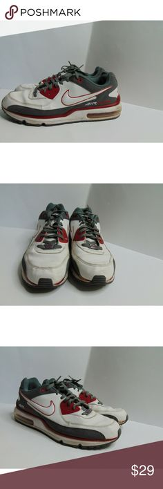 competitive price 6ff04 8ba46 Nike Air Max Wright Shoes White Red Gray Sneakers Nike Air Max Wright Mens  14 317551