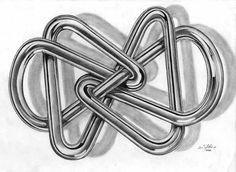 Art of Scott Gillies Pencil Drawings, Knot, Metallic, Knots, Bump, Pencil Art