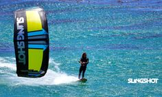 Patrick Rebstock cruising on the 2016 Slingshot SST Wave kite. Finally a dedicated wave kite for wave prodigy Patrick Rebstock. He must be pleased. Slingshot, Kitesurfing, Waves, Wallpaper, Wallpapers, Wave