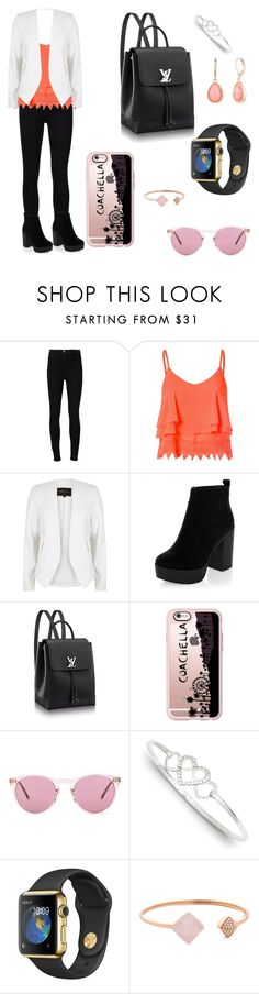 """""""Orange"""" by kayleighmw on Polyvore featuring Frame Denim, Glamorous, River Island, New Look, Casetify, Oliver Peoples, Michael Kors and Vintage America"""