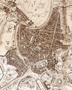 Map of Rome, by Franco Monaco and Carlo Nolli.