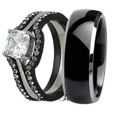 No oxidize, fading, tarnishing and green finger. The feature of engagement ring is a 6.5 6.5 mm (1.03 ct) cushion cut stone in center with a prong setting. The feature of matching engagement ring each comes with 20 round cut stones (total 40 stones) in a pave setting. | eBay!
