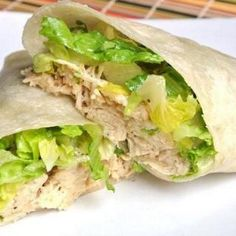 Weight Watchers Chicken Caesar Wrap   HEALTHY RECIPES  HEALTHY FOOD  HEALTHY COOKING