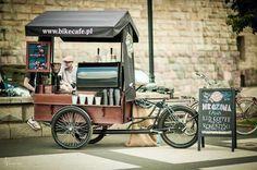 Bike café. Includes fold-out counters.
