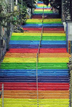 rainbow stairs istanbul - Google Search